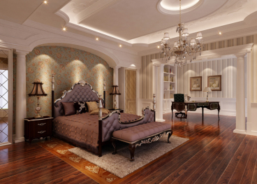 南湖一号 欧式古典卧室效果图