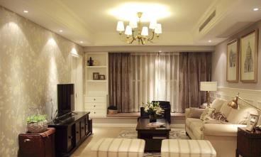 高远森林城美式客厅效果图