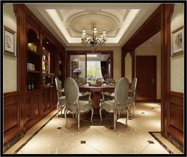 翡丽岛欧式古典餐厅效果图