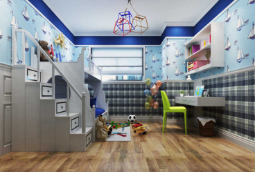 悦活公寓现代简约儿童房效果图