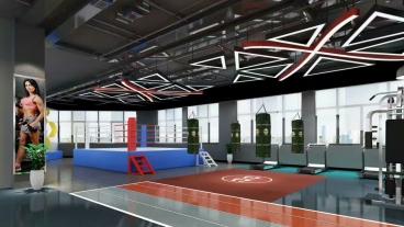 钟楼区健身房500平全包装修效果图