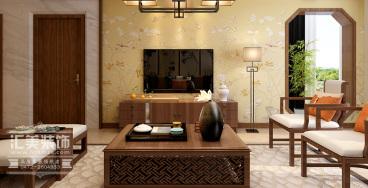 凡尔赛颐阁新中式客厅效果图