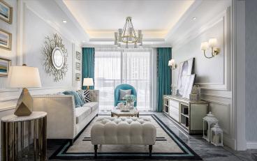 中瑞曼哈顿三室二厅现代简约装修效果图