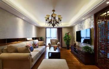 K2·京南狮子城 中式客厅效果图