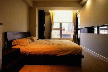 外海中央花园现代简约卧室效果图