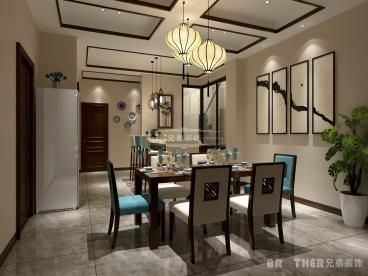 圣乔维斯底跃新中式五室三厅装修效果图