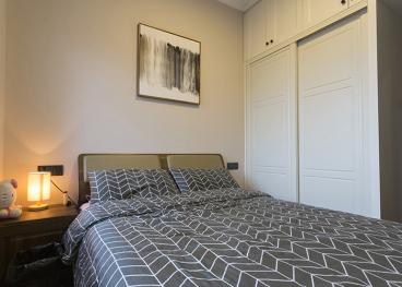 绿地海外滩北欧卧室效果图