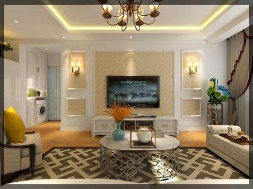 奥体玉园88平二室一厅装修效果图