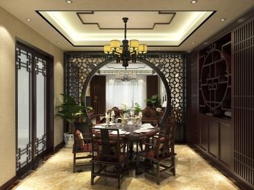 地王.国际新中式四室二厅装修效果图