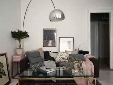 天伦家园时尚混搭客厅效果图
