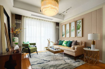 九州新世界三室一厅新中式装修效果图
