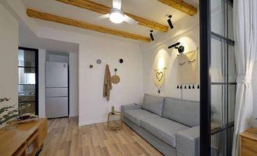 亚星江南小镇一室一厅全包装修效果图