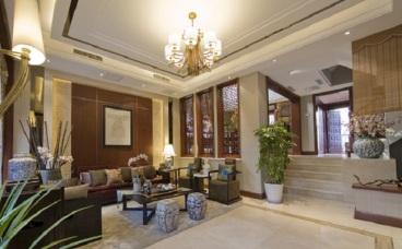 珠江城别墅中式客厅效果图