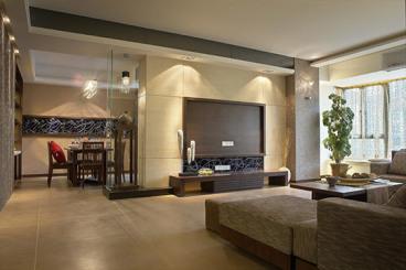 八方小区120平三室二厅装修效果图