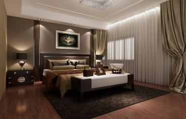 绿地香树花城欧式古典卧室效果图