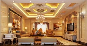 峰汇花园欧式古典三室二厅装修效果图