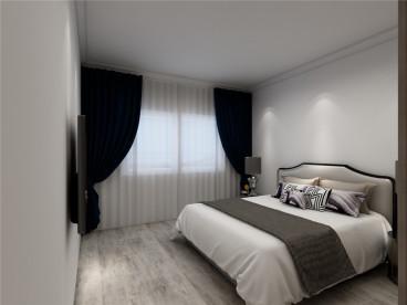 天房意境现代简约卧室效果图