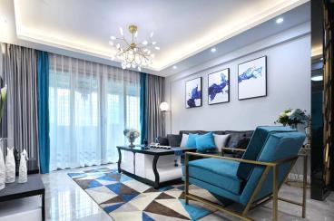 阳光凡尔赛宫现代简约客厅效果图