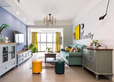 金地自在城美式三室二厅装修效果图