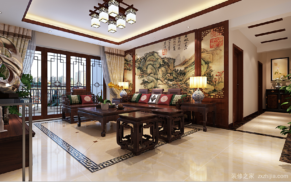 凤岭 凤景湾五室二厅全包装修效果图