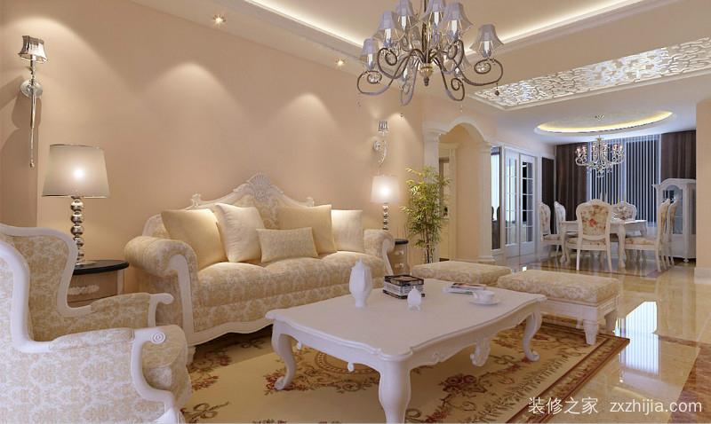 云龙华府欧式古典三室一厅装修效果图