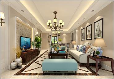 双佳翠庭二室一厅98平装修效果图
