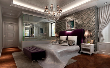 华地紫园欧式古典卧室效果图