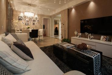 棕榈印象三室二厅全包装修效果图