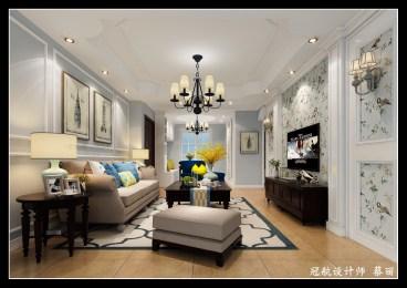 锦悦湾雅园三室二厅美式装修效果图