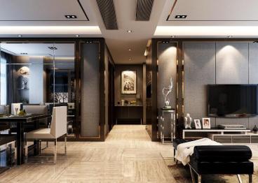 中央绿地广场三室二厅123平装修效果图