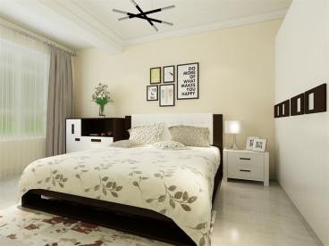 金地艺境现代简约卧室效果图
