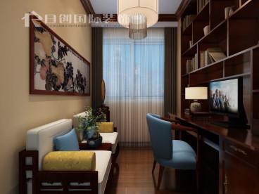 邕江明珠中式书房效果图
