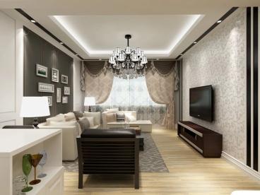 建工依山三室二厅简欧装修效果图