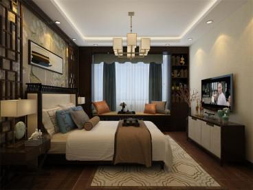 奥莱城中式卧室效果图