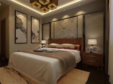 联发第五街新中式卧室效果图