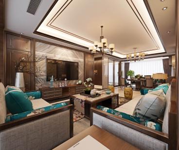 首创大河宸章二室二厅98平装修效果图