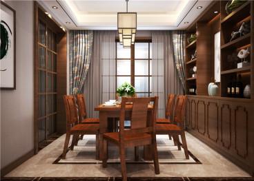丰源府邸新中式三室二厅装修效果图