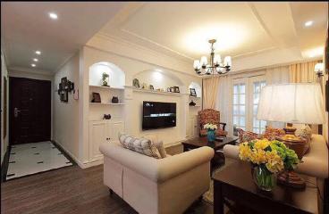 永威南樾三室二厅美式装修效果图