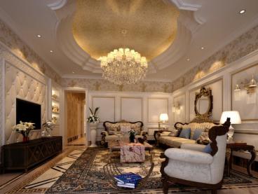 中海国际社区别墅新古典380平三室二厅装