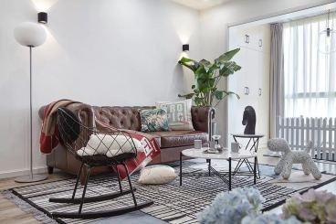 水木年华二室一厅全包现代简约装修效果图