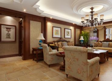 纬北小区120平二室一厅装修效果图