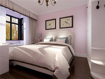 小镇西西里瑞民里美式卧室效果图