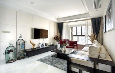 嘉丰万悦城工业风全包三室二厅装修效果图