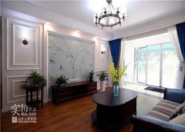 保利海上五月花美式三室二厅装修效果图