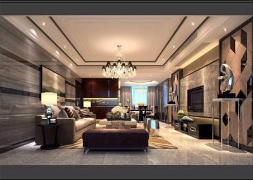 招商花园城小区四室二厅150平装修效果图