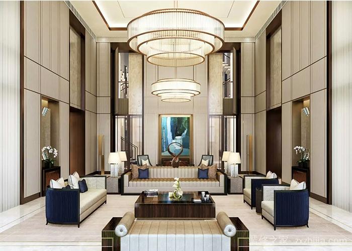 俊发滇池ONE250平五室一厅装修效果图