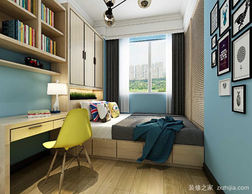 金地檀悦二期94平三室二厅装修效果图