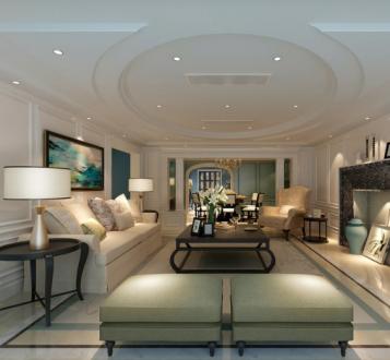 中海国际社区别墅全包六室二厅装修效果图