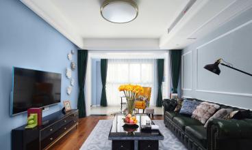 珠江太阳城A区半包三室二厅装修效果图
