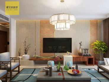 中海华山珑城145平新中式装修效果图